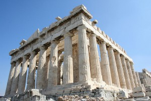 Pantheon v Athénách. Autorem snímku je Onkel Tuca.