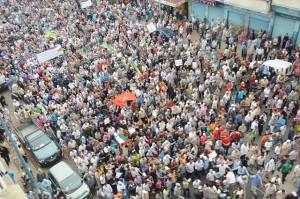 Arabské jaro v Maroku. Autorem snímku je Magharebia.