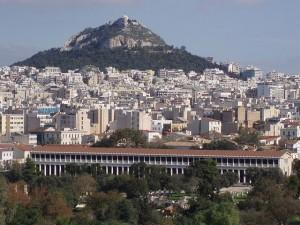 Pohled na hlavní město Řecka.