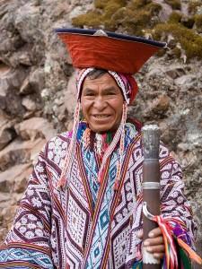 Představitel andských kmenů.