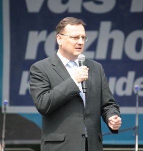 Dnes již bývalý premiér a předseda strany ODS Petr Nečas. Autorem snímku je Aktron.