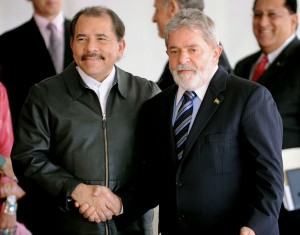 Prezident Nikaragui Daniel Ortega prosazuje výstavbu průplavu. Autorem snímku je Roosewelt Pinheiro/ABr.