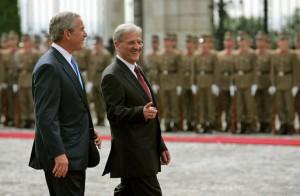 Prezident Solyom s bývalou americkou hlavou státu.