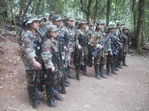 FARC během mírových jednání v letech 1998 až 2002.