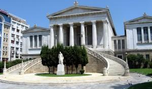 Národní knihovna Řecka v Athénách. Autorem snímku je Юкатан.